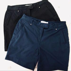 Lady Hagen (2) Pairs Navy/Black Golf Shorts 8